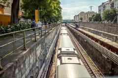 地铁在维也纳 免版税库存图片