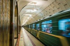地铁在莫斯科,俄罗斯傻事  免版税库存图片