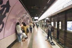 地铁在香港很多人民 图库摄影