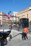 地铁在马德里 库存照片