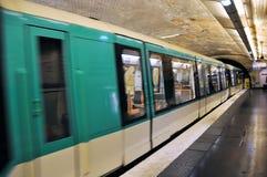地铁巴黎人岗位 免版税库存图片