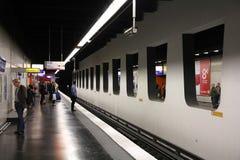 地铁巴黎岗位 免版税库存图片