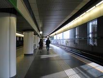 地铁平台岗位 图库摄影