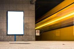 地铁广告都市运输白色大模型 库存照片