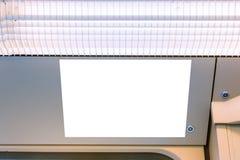 地铁广告都市运输白色大模型 图库摄影