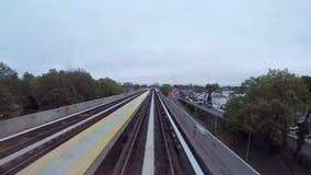 地铁或火车在纽约 股票录像