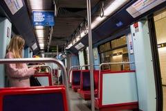地铁支架在里斯本 库存图片