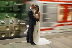 地铁新娘 免版税图库摄影