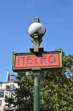 巴黎地铁标志,巴黎 库存照片