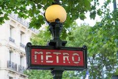 巴黎地铁标志- 02 库存照片