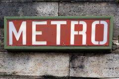 巴黎地铁标志- 04 库存图片