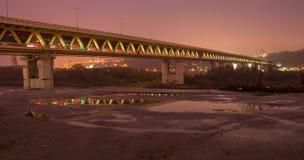 地铁桥梁在下诺夫哥罗德 库存照片