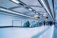 地铁段落在广州 库存照片