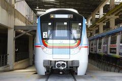 地铁火车站 免版税图库摄影