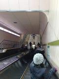 地铁电梯 库存图片