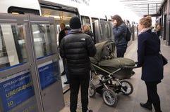 地铁电车公共交通 库存图片