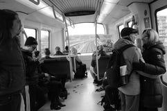 地铁电车公共交通 免版税库存图片