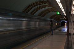 地铁的一个人 免版税图库摄影