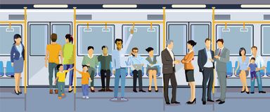 地铁的乘客 免版税库存图片