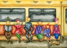 地铁的乘客 免版税库存照片