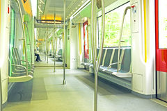 从地铁的内部在荷兰 免版税库存图片