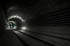 地铁的地下隧道 免版税库存照片