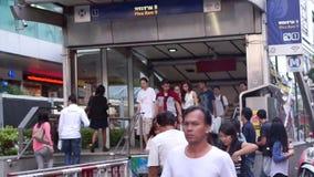 地铁的曼谷通勤者 股票视频