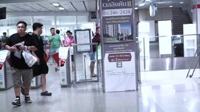 地铁的,地下火车站票通勤者 影视素材