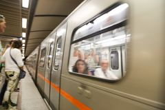 地铁站乐团在雅典,希腊 库存照片