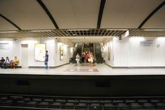 地铁站乐团在雅典,希腊 免版税库存图片