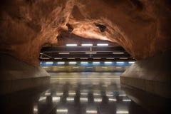 地铁站乐团斯德哥尔摩 瑞典 08 11 2015年 库存照片