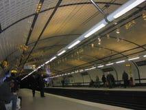 巴黎地铁站乐团-协和飞机 库存图片
