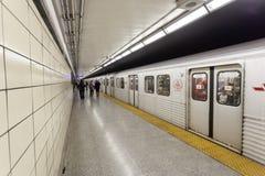 地铁站在多伦多,加拿大 免版税库存图片