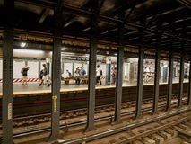 地铁站在纽约,美国 免版税库存照片