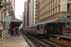 地铁站在芝加哥 库存图片