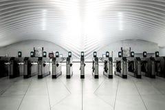 地铁站的入口地区 免版税库存图片