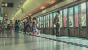 地铁站的无法认出的人 影视素材
