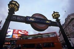 地铁站, Piccadilly马戏,伦敦 免版税库存图片