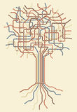 地铁结构树 免版税库存图片