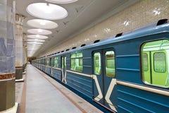 地铁莫斯科岗位 免版税库存照片