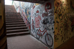 地铁街道画 库存照片