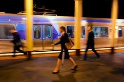 地铁训练墨尔本 免版税库存照片