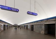 地铁车站内部  免版税库存图片