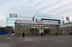 地铁车站在城市 图库摄影