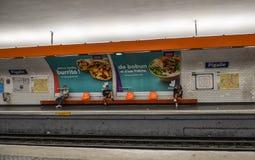 地铁车站在巴黎,法国 免版税图库摄影