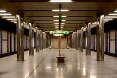 地铁车站在布拉格 库存照片