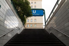 地铁车站柏林,德国 免版税库存照片