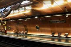 巴黎地铁车站 库存图片