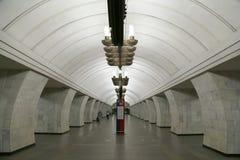 地铁车站Chekhovskaya在莫斯科,俄罗斯 它在08被打开了 11 1983年 图库摄影