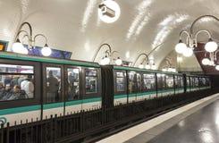 地铁车站Cité,巴黎,法国 库存图片
